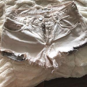 Freepeople Pink Denim Shorts